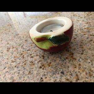Yankee candle apple tea light or ring holder